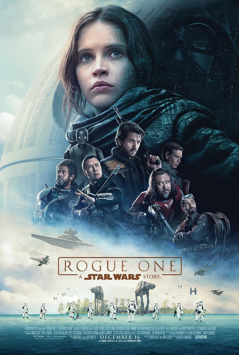 Rogue One: A Star Wars Story, otherwise called Rogue One of 2016, directed by Gareth Edwards, is an American epic space opera film.
